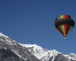 Hot air balloon Swiss alps