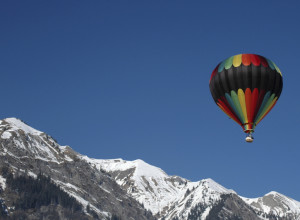 Hot air balloon Swiss alps